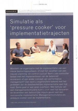 Simulatie als pressure cooker voor implementatietrajecten