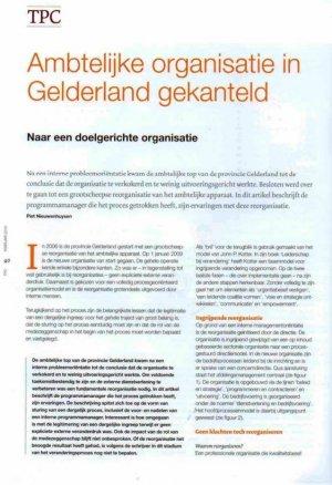 Ambtelijke organisatie in Gelderland gekanteld
