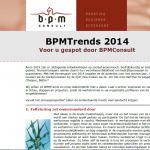 BPMConsult brengt BPMTrends 2014 en jaarkalender uit