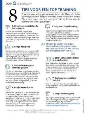 8 tips voor een goede training