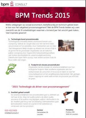 BPM Trends 2015